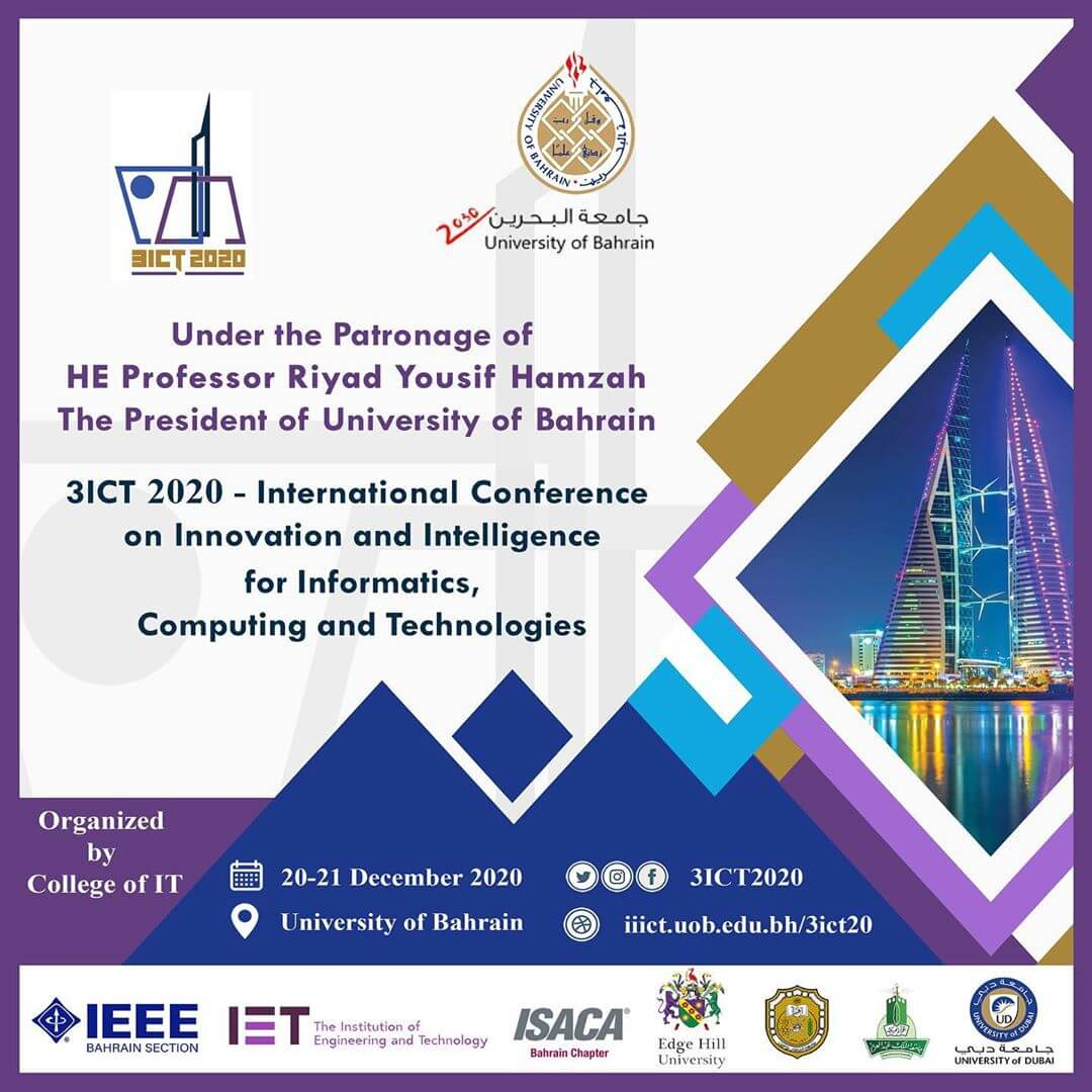 International Conference on Innovation and Intelligence for Informatics, Computing, and Technologies